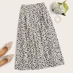 Миди-юбка с далматинским принтом Shein