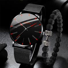 Чёрный Повседневный Мужские часы Shein