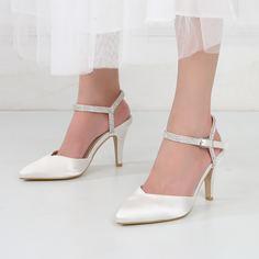 Туфли на каблуке со стразами Shein