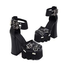 Туфли-лодочки на платформе на массивном каблуке с пряжкой Shein