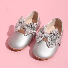 Туфли на плоской подошве с блестками для девочек Shein