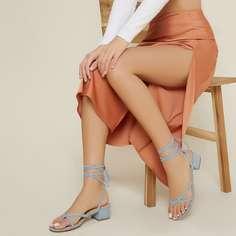 Туфли на низком каблуке на шнурке Shein