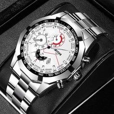 Белый Повседневный Мужские часы Shein