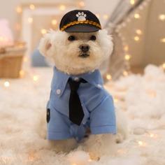1 набор полицейский костюм для домашних животных Shein
