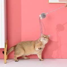 1шт игрушка-дразнилка для кошек с кроличьими ушками Shein