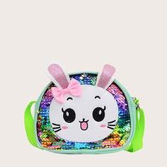 Блестящая сумка через плечо с мультипликационным декором для девочек Shein