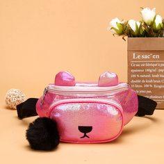 Мультипликационная поясная сумка с помпонами для девочек Shein
