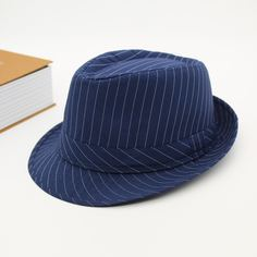 Мужская шляпа-федора в полоску Shein