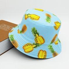 Мужская двусторонняя шляпа с принтом фруктов Shein