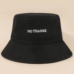Мужская шляпа с текстовой вышивкой Shein