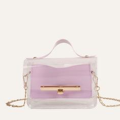 Прозрачная сумка-сэтчел с металлическим краем Shein