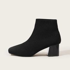 Минималистские ботинки на массивном каблуке Shein