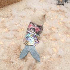 Костюм в форме русалки для домашних животных Shein