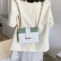 Двухцветная сумка через плечо на цепочке Shein