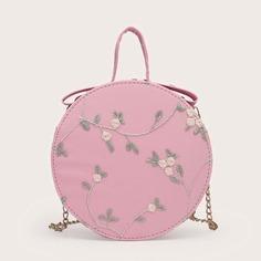 Цепочка с вышивкой Со цветочками Детские сумки на плечо и сумки-тоут Shein