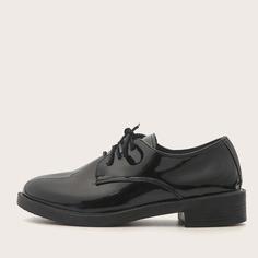 Туфли дерби из лакированной кожи Shein