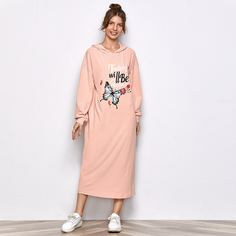 Платье с капюшоном и графическим принтом Shein