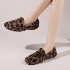Плюшевые лоферы с леопардовым принтом Shein