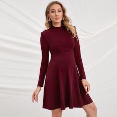 Одноцветный Элегантный Платья для беременных Shein