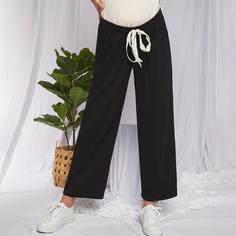 Однотонные брюки на кулиске для беременных Shein