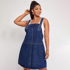 Платье размера плюс с карманами Shein