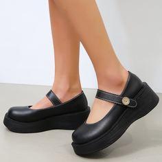 Туфли на платформе с круглым носком Shein
