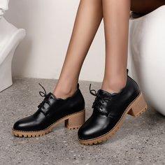 Туфли-оксфорды на шнурках Shein