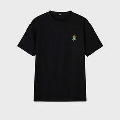 Мужская футболка с круглым вырезом и цветочным принтом Shein