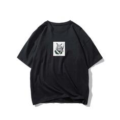 Мужская футболка с животным принтом Shein