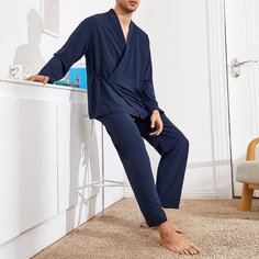 узел Одноцветный Повседневный Мужская домашняя одежда Shein
