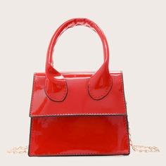 Мини сумка-сэтчел из лакированной кожи Shein