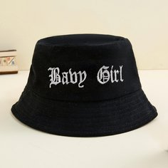 Шляпа с текстовой вышивкой для девочек Shein