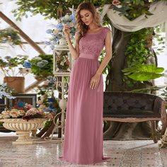 Вечернее платье макси с кружевной отделкой Shein