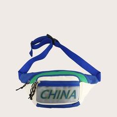Регулируемый буква Модный Поясные сумки Shein