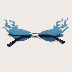 Мужские солнечные очки в форме пламени Shein