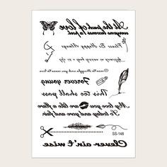 Стикер татуировки с текстовым принтом 1 лист Shein