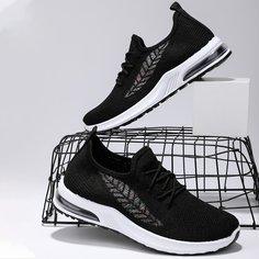 Трикотажная беговая обувь на шнурках с узором листьев Shein