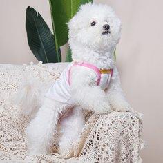 Майка для домашних животных с принтом собаки Shein