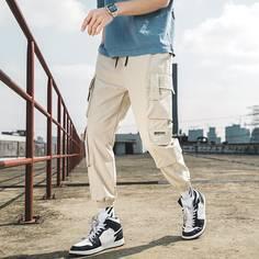 Мужские брюки с текстовым принтом Shein