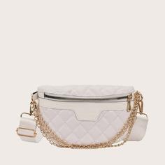 Регулируемый стеганая Модный Поясные сумки Shein