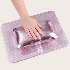 1шт Складная подушка для дизайна ногтей и 1шт коврик для стола Shein