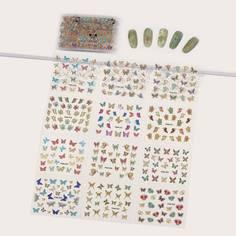 Наклейка для ногтей с рисунком бабочки 30 листов Shein