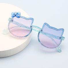 Детские солнцезащитные очки в оправе в форме кошки Shein