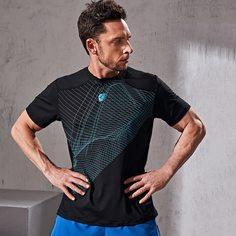 Мужская спортивная футболка с геометрическим рисунком Shein