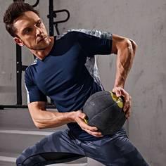 Мужская контрастная спортивная футболка Shein
