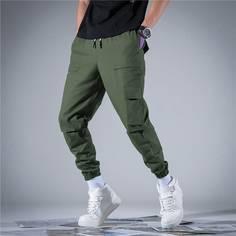 Мужские брюки на кулиске с карманом Shein