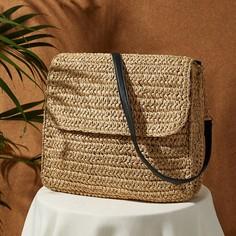 Плетеная соломенная сумка через плечо Shein