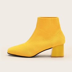Вязаные ботинки на массивном каблуке Shein