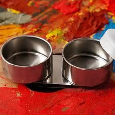 1шт чашка палитры из нержавеющей стали Shein