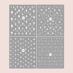 4 листа наклейка для ногтей с узором звезды Shein